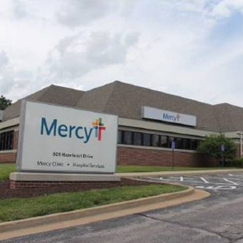 an exterior view of the Mercy Hospital Services building